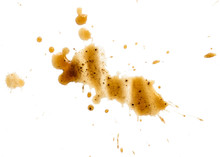 Spilled Coffee Stain Isolated