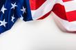 Leinwandbild Motiv American flag border isolated on white background