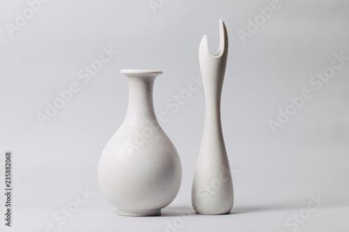 Papel de parede White midcentury ceramics