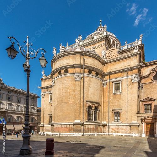 Fotografie, Obraz  View at the Basilica of Santa Maria della Steccata in the streets of Parma in It