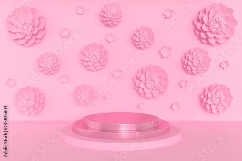 Fotografía  3d Scene rendering of geometric shape abstract background.