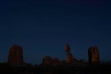 Balanced Rock, Arches National Park Stars At Night