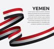 Yemen flag, vector illustration on a white background