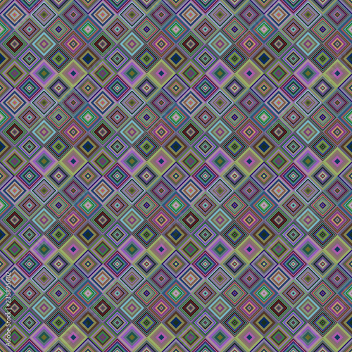 Spoed Foto op Canvas Psychedelic Geometrical diagonal square mosaic pattern background - vector graphic design