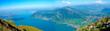 Der Zugersee in der Schweiz/Blick von der Rigi auf den Zugersee mit dem Ort Arth und den Lauerzersee im Kanton Schwyz, Panorama,