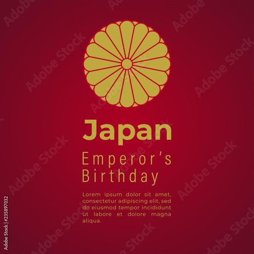 Fotografía Japan Emperor's Birthday Vector Template Design Illustration