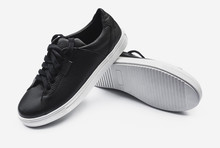 Pair Of New Black Leather Snea...