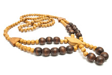 Necklace With Wooden Beads Iso...