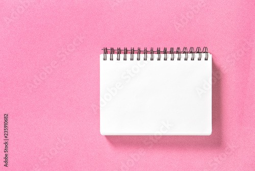 Spirale book pink background Paper notepad - 235910682