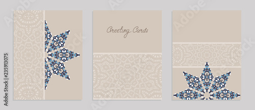 Templates for greeting and business cards, brochures, covers