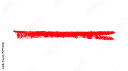 Unordentliche handgemalte rote Kreidelinie