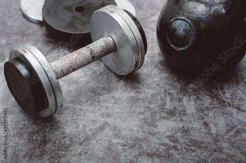 Fitness or bodybuilding concept background Tapéta, Fotótapéta