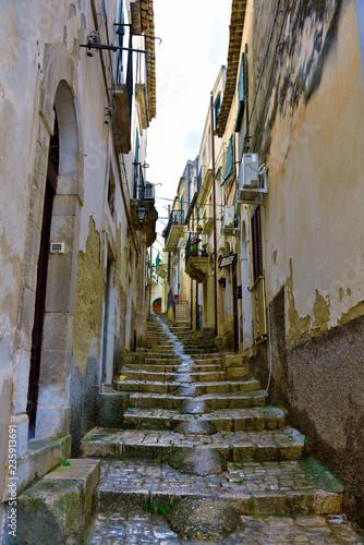 glimpse of the historic center of Scicli Sicily Italy