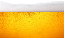 Close Up Background Of Beer Wi...