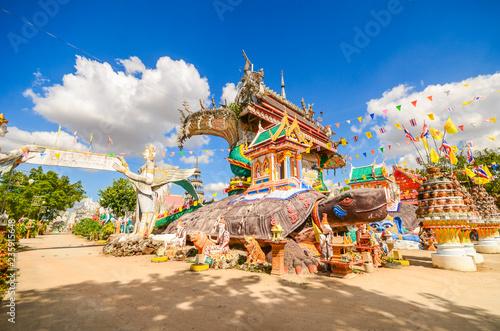 Wall Murals Temple Wat PA non sawan Roi Et, Thailand