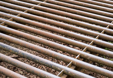 Steel Cattle Grid Background