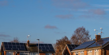 Roof Top Solar Votaic Electrical Panels Free Energy Green