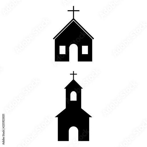The Church is an icon, a logo on a white background Fototapet