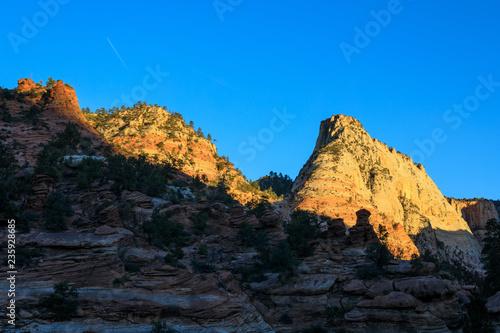 Scenic Zion National Park Utah Landscape