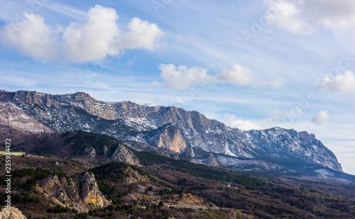 Landscape of the Crimean mountains