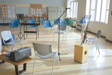 Temporary Music Classroom In G...