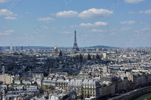 Papiers peints Paris Panoramic view of Paris from Notre Dame of Paris