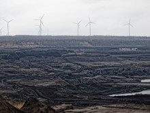 Coal Mine Aerial View With Win...