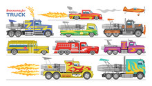 Jet Truck Vector Afterburning ...