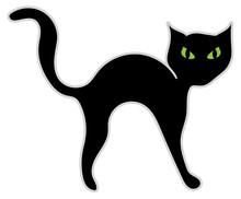 Illustrazione Di Un Gatto Nero Con Occhi Minacciosi
