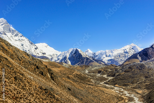 Foto op Canvas Asia land View at Island Peak from Dingboche area in Nepal