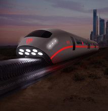 Futuristic High Speed Monorail...