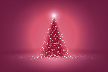 Beautiful Pink Christmas Tree Of Lights