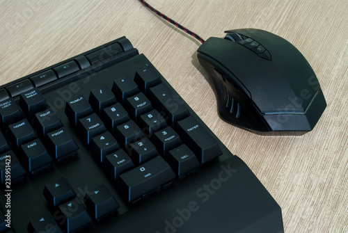 Photo Computer keyboard and mouse