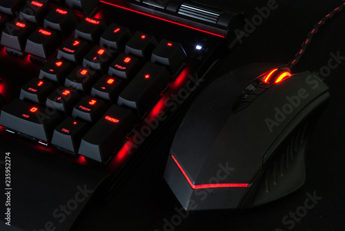 Photo  Gaming Keyboard with Lights and mouse