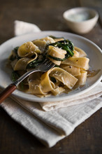 Wheat Pappardelle Pasta With W...