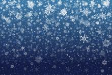 Christmas Snow. Falling Snowfl...