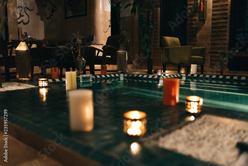 Light up candle holder in morocco - Buy this stock photo and explore