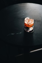 Red Cocktail With Ice