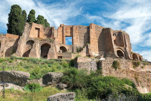 Valokuvatapetti ruins of the Domus Augustana, Palace of Domitian on the Palatine Hill in Rome