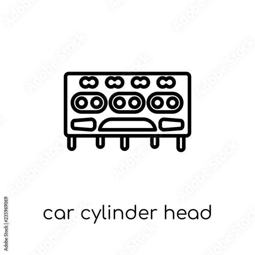 Fotografía car cylinder head icon from Car parts collection.