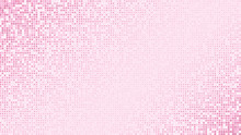 Abstract Light Pink Glittering Dotted Horizontal Background. Pop Art Retro Shiny Girlish Texture For Wallpaper, Banner Or Presentation Design