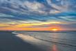 canvas print picture - Nordsee Abendlicht auf Insel Amrum