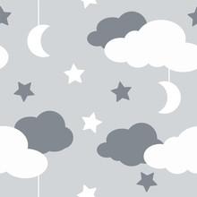 Seamless Pattern With Sky Elem...