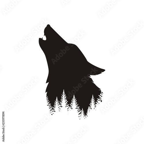 Naklejka premium Głowa wilka