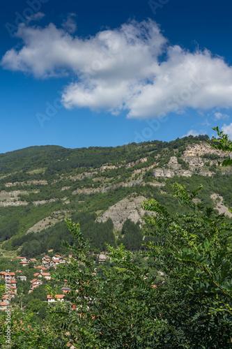Foto op Aluminium Khaki Amazing Landscape with Iskar Gorge and village of Tserovo , Balkan Mountains, Bulgaria