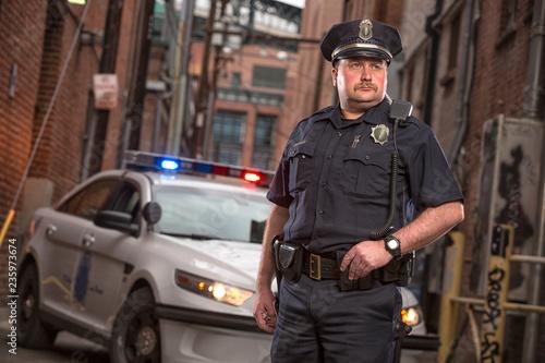 Fotografering Policemen on patrol