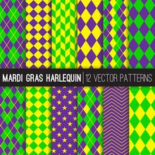 Mardi Gras Harlequin Vector Pa...