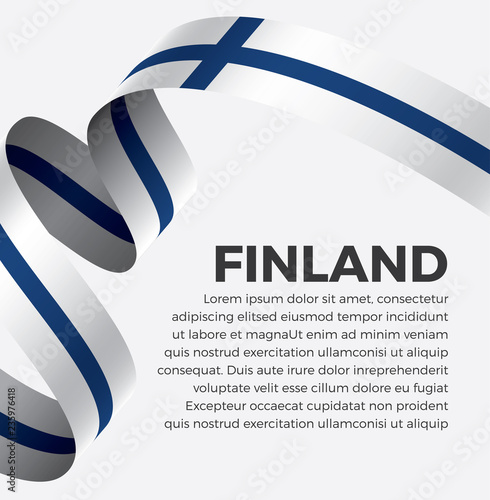 Fotografie, Obraz  Finland flag, vector illustration on a white background