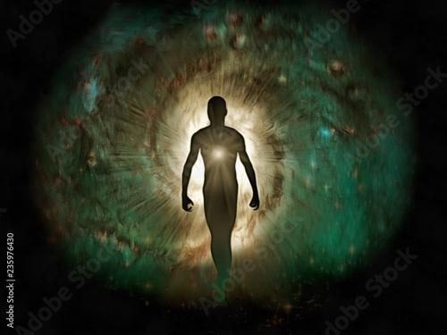 Human's inner light Fotobehang