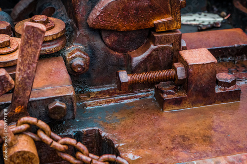 Recess Fitting Firewood texture Alte Maschine Kettenschmiede
